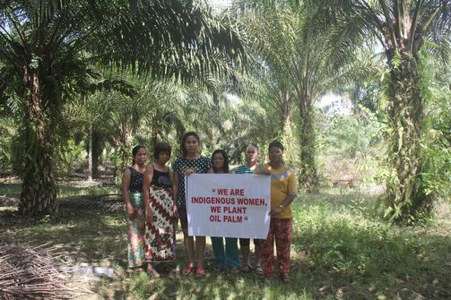 Indigenous palm oil farmers protest