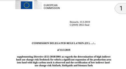 EU Delegated Act palm oil